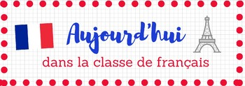 French Classroom Decor - Starter Pack