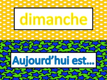 French: Les Jours de la Semaine