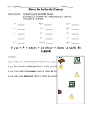 French- Classroom Drawing and Writing Activity with Rubric