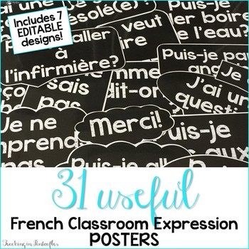 French Classroom Expressions: French Posters