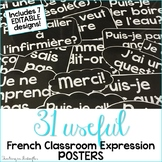 French Classroom Expressions and Phrases Posters: EDITABLE