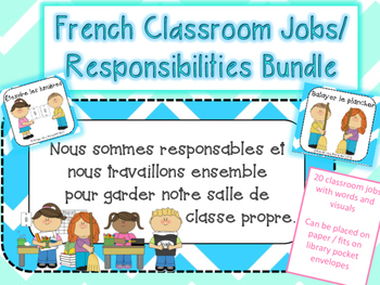 French Classroom Jobs + Responsibilities Visuals