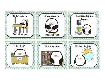 French Classroom Jobs and Responsabilities - Les responsabilités de classe 1