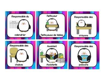 French Classroom Jobs and Responsabilities - Les responsabilités de classe 2