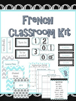 French Classroom Kit - Decor, Posters and Teacher Binder