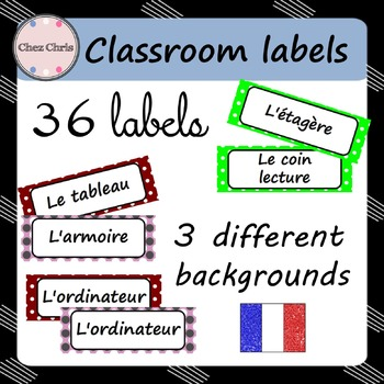 French Classroom Labels - Classroom Display