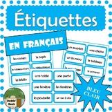 French Classroom Labels - Étiquettes pour la classe (Light Blue)