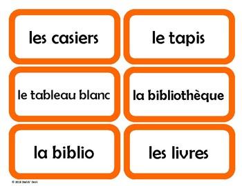 French Classroom Labels - Étiquettes pour la classe (Orange)