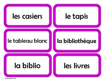 French Classroom Labels - Étiquettes pour la classe (Purple)