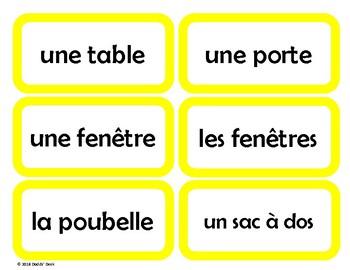 French Classroom Labels - Étiquettes pour la classe (Yellow)