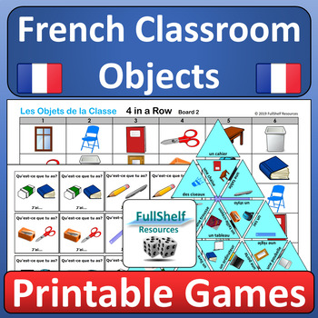 French Classroom Objects BUNDLE