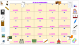 French Classroom Objects Drag & Drop Activity - Google Slides