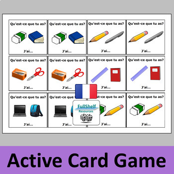 French Classroom Objects Games