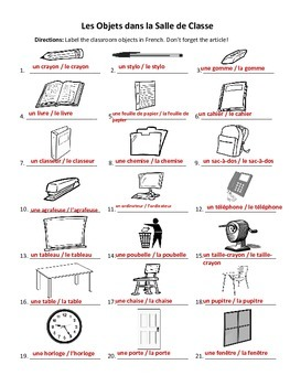 french classroom objects la by exploring french and spanish teachers pay teachers. Black Bedroom Furniture Sets. Home Design Ideas