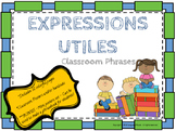French Classroom Phrases Poster Set or Handouts