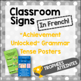 French Classroom Posters - Achievements Unlocked (Verb Conjugations)