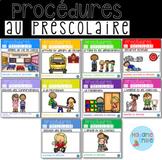 French Classroom Procedures BUNDLE/ Ensemble Routines au préscolaire