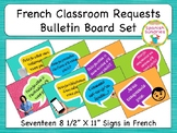 French Classroom Requests Bulletin Board Set