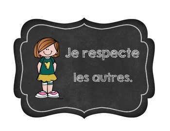 French Classroom Rules Agreements (Les règles de la classe) La rentrée