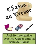 French Classroom Object Vocabulary Scavenger Hunt Activity