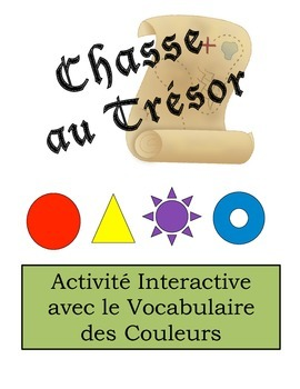 French Color Vocabulary Scavenger Hunt Activity