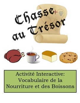 French Food and Drink Vocabulary Scavenger Hunt Activity