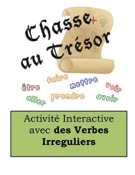 French Irregular Verbs Scavenger Hunt Activity