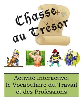 French Job and Profession Vocabulary Scavenger Hunt Activity