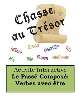 French Passé Composé (Être) Scavenger Hunt Activity