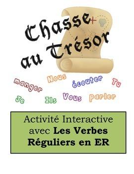 French Regular ER Verbs Scavenger Hunt Activity
