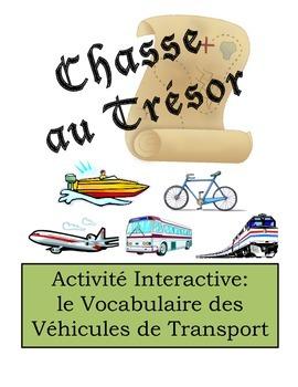 French Transportation Vocabulary Scavenger Hunt Activity