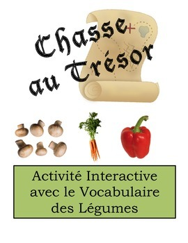 French Vegetable Vocabulary Scavenger Hunt Activity