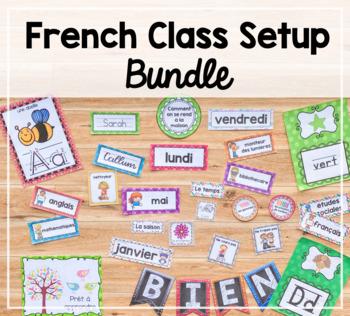 French Classroom Setup Bundle / Ensemble d'affiches: Organisation de Classe