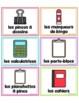 French Classroom Supply Labels / Étiquettes pour les fournitures scolaires