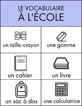 French Classroom Vocabulary BUNDLE