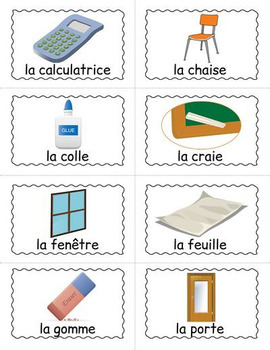 French Classroom Objects BINGO - Ma salle de classe