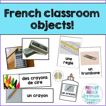 French Classroom objects - games and flashcards - Les obje