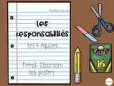 French Classrooom Jobs-Bitmoji Inspired