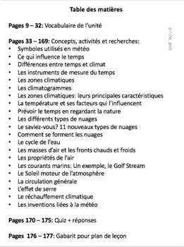 French: Climat et temps, Gr.5, Science, 177 slides