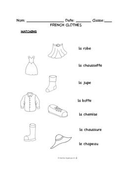 French Clothes -- Les Vetements -- Promenons nous dans les bois