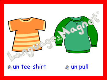 French Clothes Presentation, Bingo Game and Audio Vocabulary Sheet