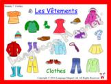 French Clothes Presentation, Bingo Game and Audio Vocabula