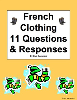 French Clothing 11 Question Responses and 12 Image IDs - Les Vêtements