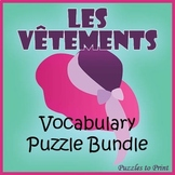 French Clothing Vocabulary Bundle