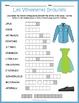 French Clothing Bundle: Les Vêtements Puzzles