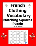 French Clothing 4 x 4 Matching Squares Puzzle