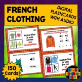 French Clothing Boom Cards, French Digital Flashcards, Tas