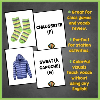 French Clothing Flashcards, Les vêtements Flashcards