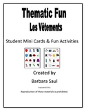 French Clothing-Les Vêtements Vocabulary Mini Student Cards and Fun Activities