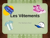 French Clothing-Les Vêtements Vocabulary Teaching Posters Powerpoint